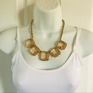 J.Crew gold-tone and stone statement necklace